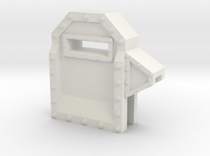 Wall Segment Left Gun Port 3d printed