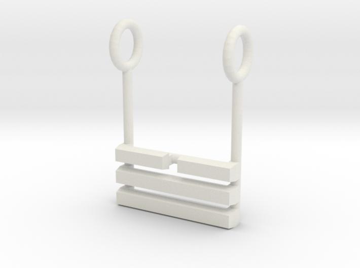 I Ching Trigram Pendant - Tui Lower 3d printed