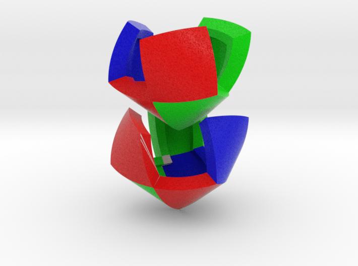 Color Pillowhedron 4cm 3d printed