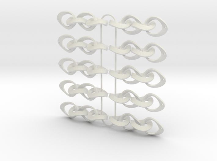 Mobius Strip Earrings - 5 pairs 3d printed