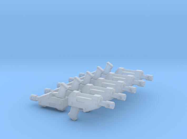 10 Miniature Pistols 3d printed
