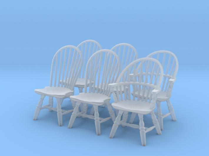 1:43 Windsor Chair Set 3d printed