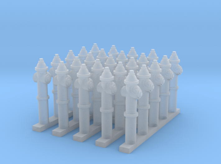 Fire Hydrants - Z scale 3d printed