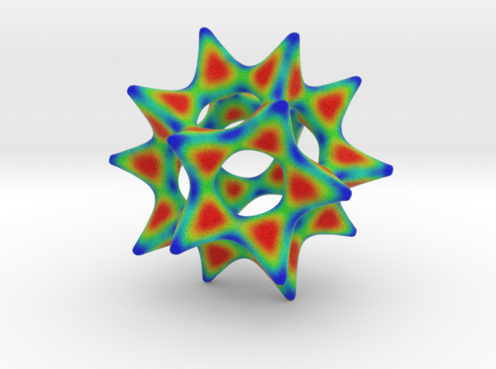 Color Cool Starfish 3D 3d printed