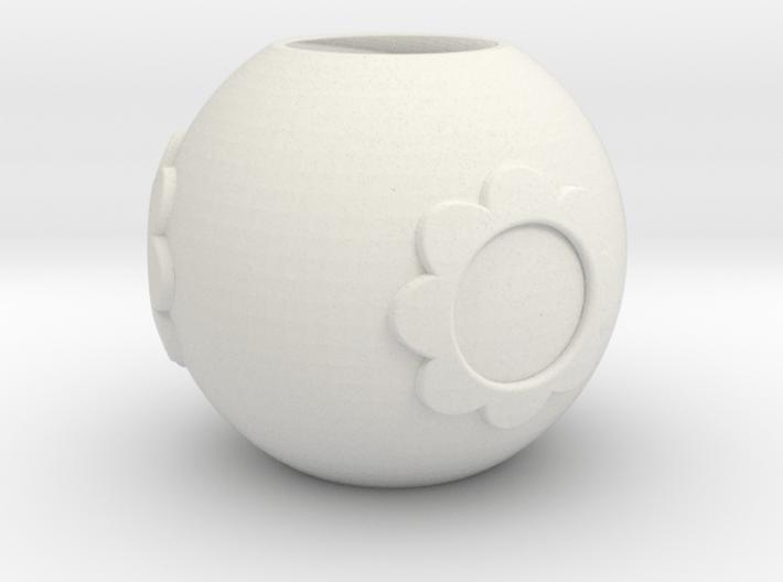 Pandora bead with flower 3d printed