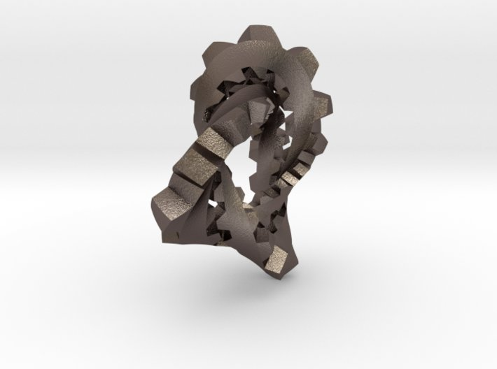 Knotted Cog (flipped) 3d printed
