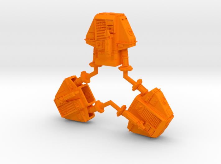 1-50 Three Silent Robots 3d printed