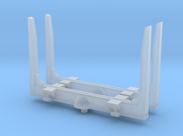 1/87th HO scale log bunk set of 2 with angled top 3d printed