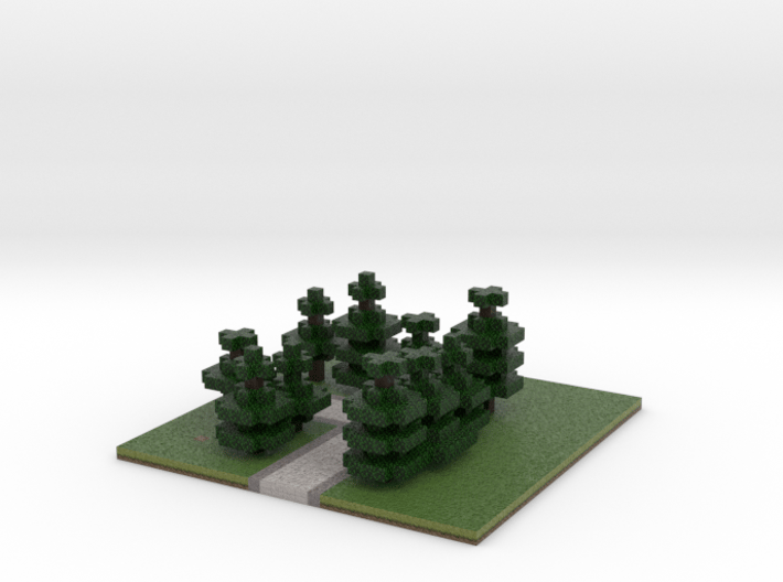 60x60 L path (pine trees) (2mm series) 3d printed