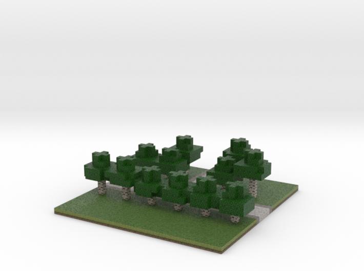60x60 T path (white trees) (2mm series) 3d printed