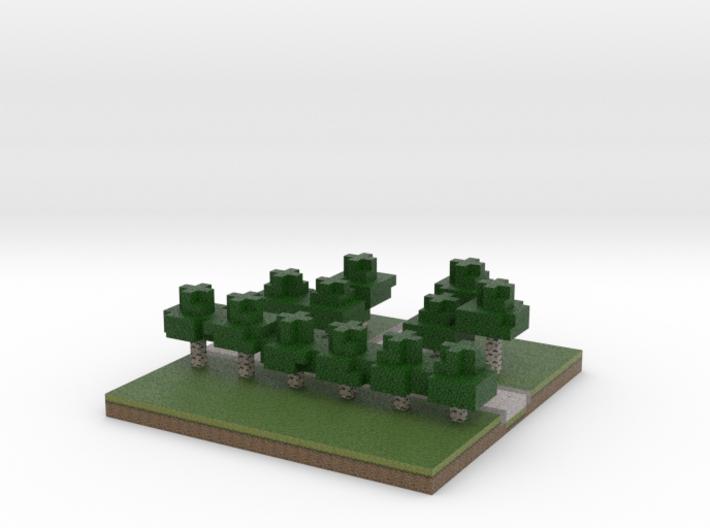 30x30 T path (white trees) (1mm series) 3d printed
