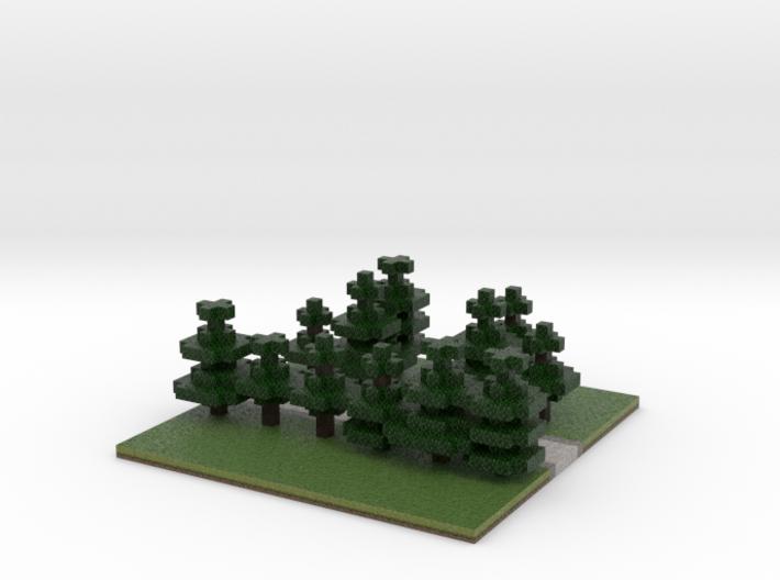 60x60 T path (pine trees) (2mm series) 3d printed