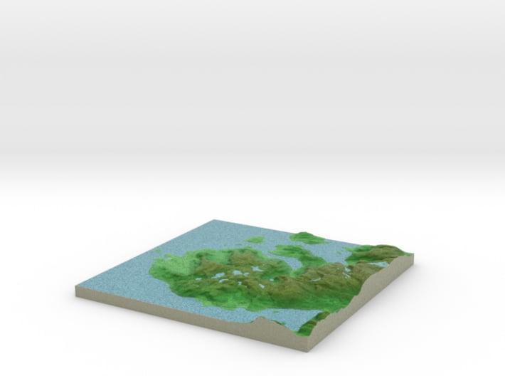 Terrafab generated model Fri Apr 25 2014 15:51:58 3d printed