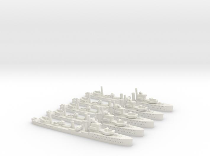 HMS Achates (A Class) 1/1800 x5 3d printed