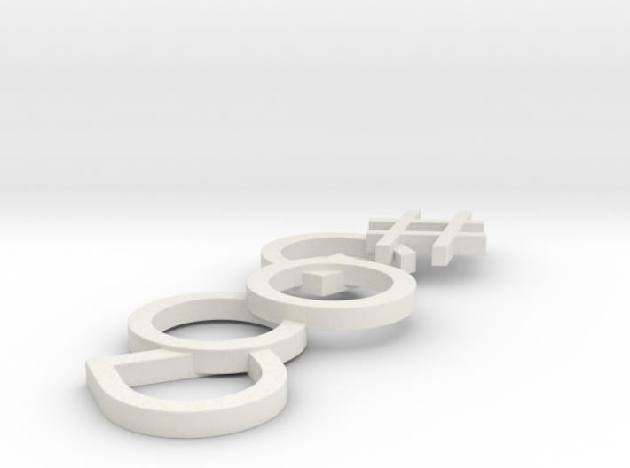#Hashtag-Earring - #Good (Single) 3d printed