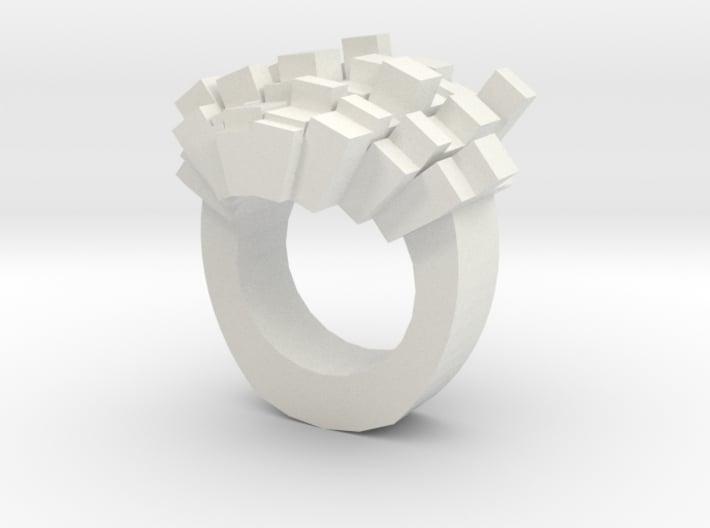 8bit-ring-hollow 3d printed
