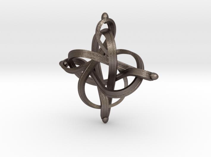 Infinity 3d printed Infinity loop pendant