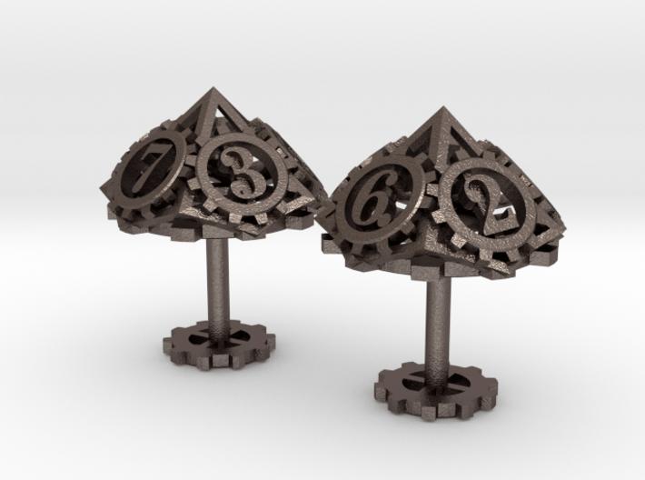 Steampunk Gear Cufflinks 3d printed