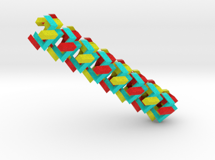 Woven Fabric on Cube Puzzle 3d printed