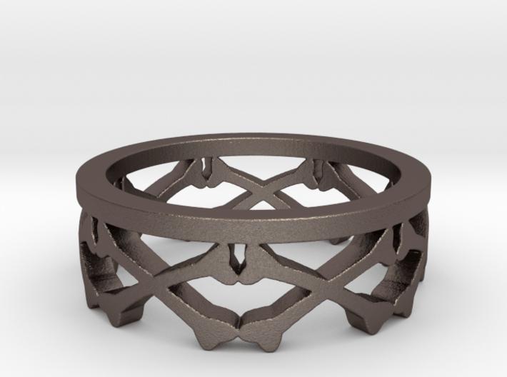 Bones Crown Design Ring - Size 10 3d printed