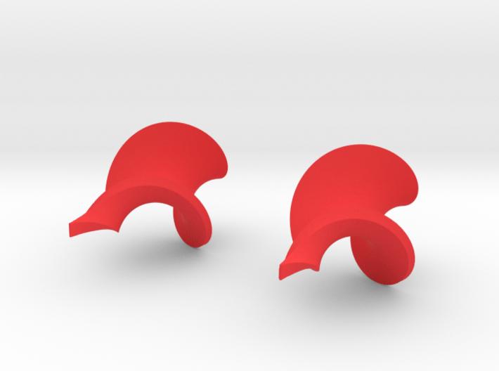 Twisted leaf earrings 3d printed