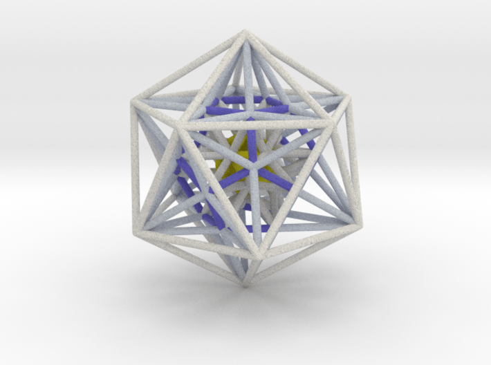 Nested Icosa Dodeca Icosa 100mm - Yellow Core 3d printed