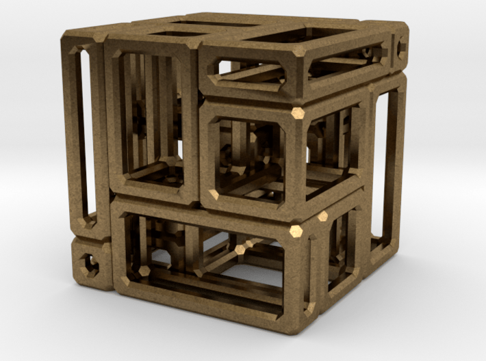 A Simple Imperfect Bricked Cube (SIBC) 3d printed