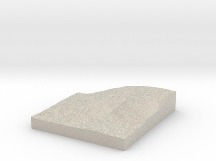 Model of McComas Beach 3d printed