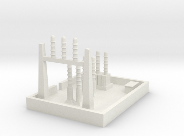 1/700 Small Power Substation 3d printed