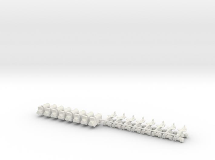 1/600 Silkworm HY-2 Battery 3d printed