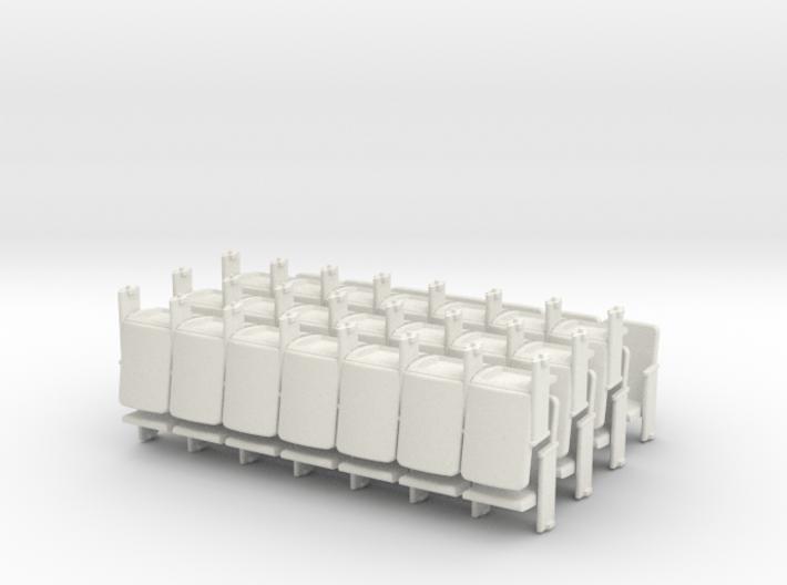 Theater Seats Ver E O Scale 7x7 3d printed