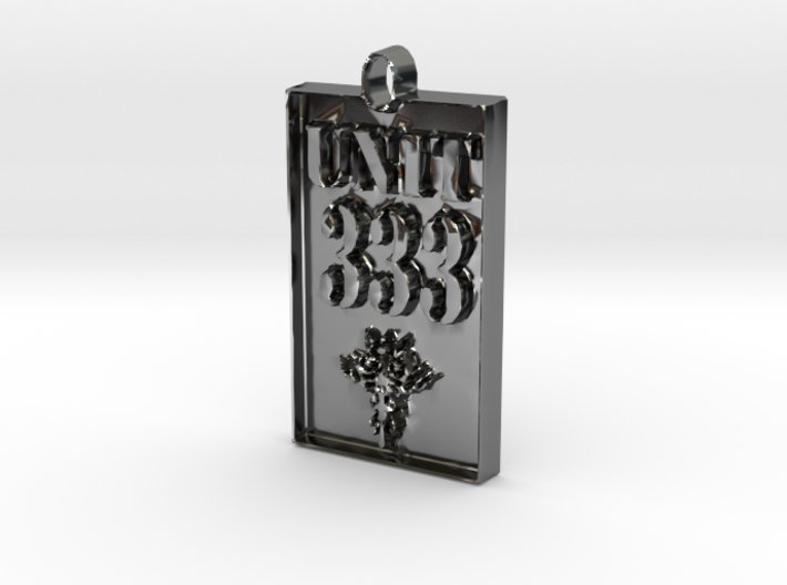 Unit 333 Gold or Silver Pendant 3d printed