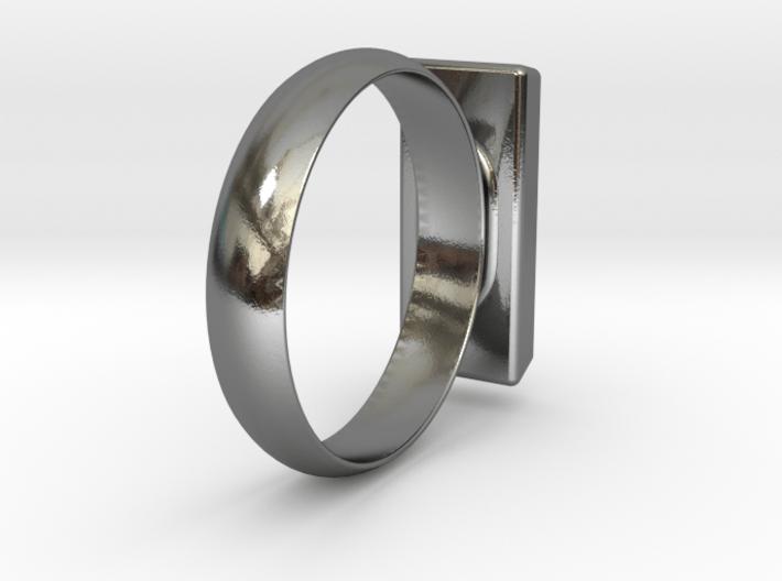 Golden Brick Ring 3d printed