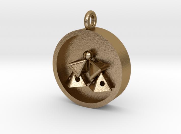 Pyramid Kiss Pendant 3d printed