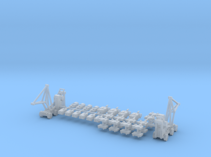 1/600 Aircraft Carrier Tractors 3d printed