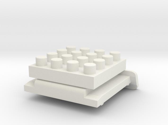 Nanobricks Hotshoe 4x4 3d printed