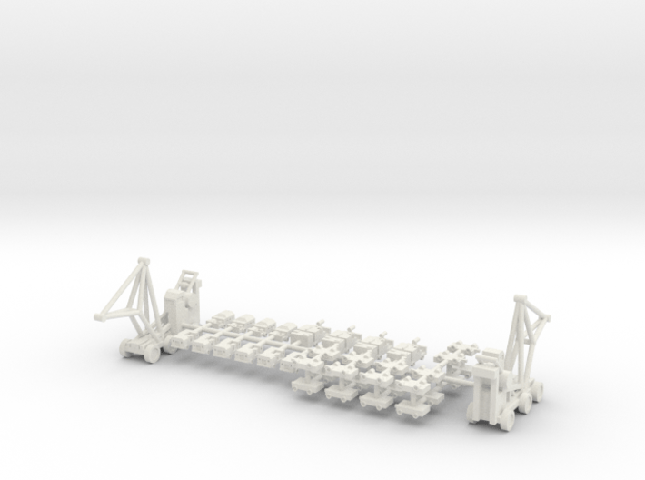 1/400 Aircraft Carrier Tractors 3d printed