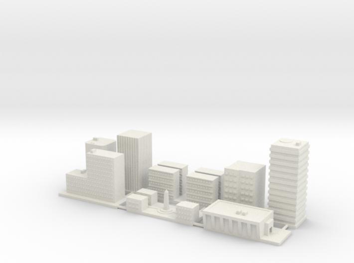 "1"" Buildings Set 1 - Commercial 3d printed"