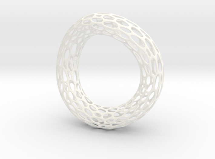 Twisted Cell Bracelet 3d printed