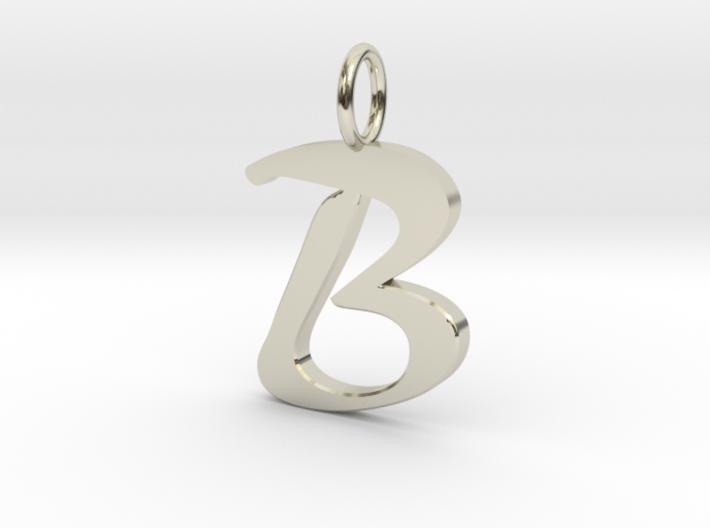 Classic Script Initial Pendant Letter B. 3d printed