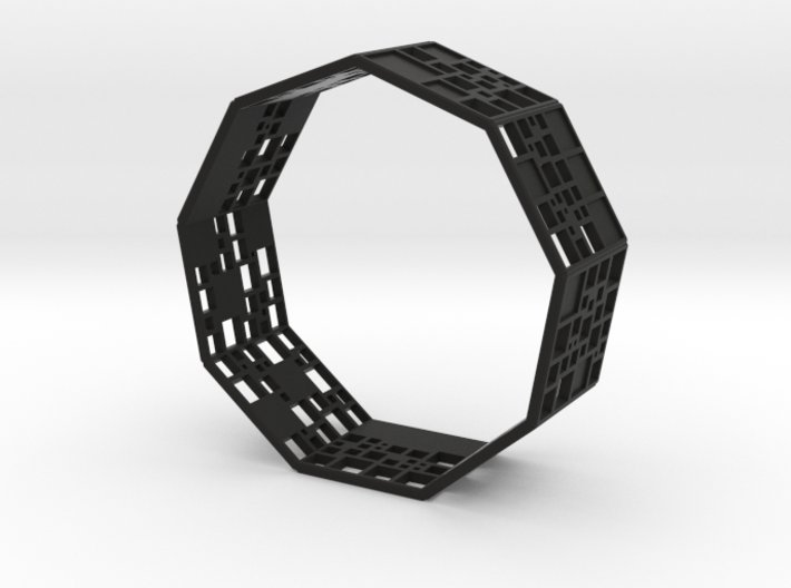 SPSS Bracelet (9 differently dissected squares) 3d printed