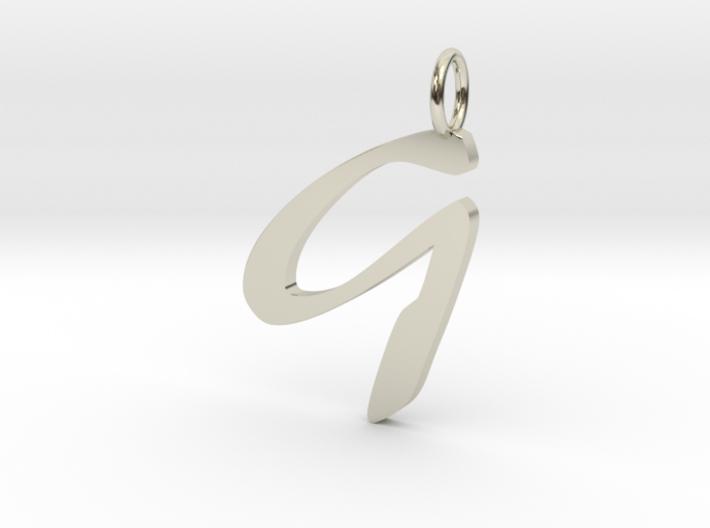 Classic Script Initial Pendant Letter G 3d printed