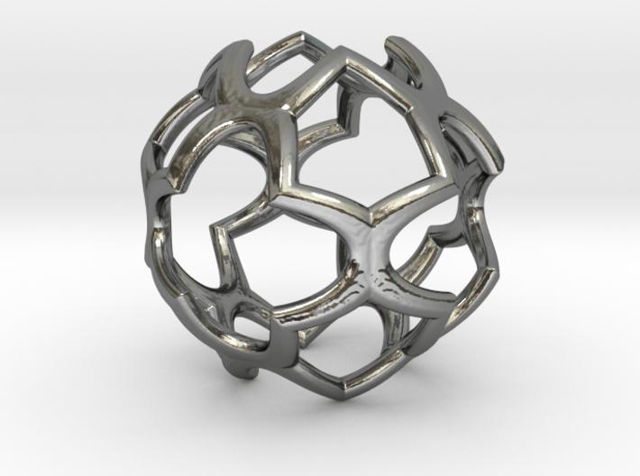 Cage Pendant Metal 30mm 3d printed