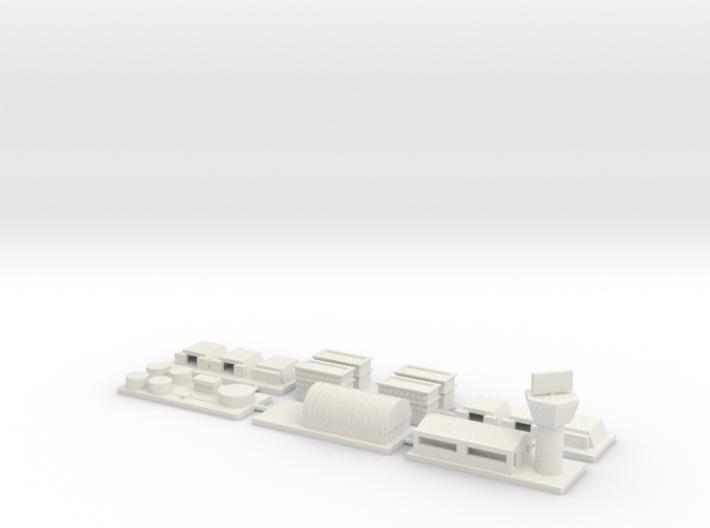 """1"""" Buildings Set 3 - Airbase 3d printed"""