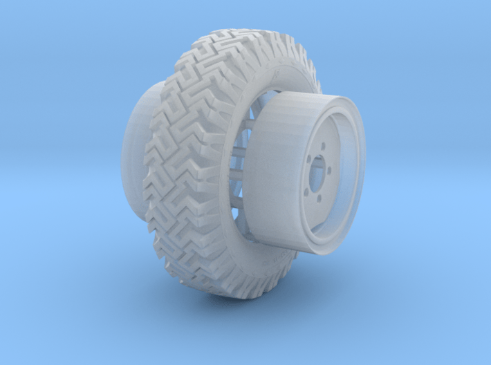 1/24 Australian Land Rover LRPV wheels 3d printed