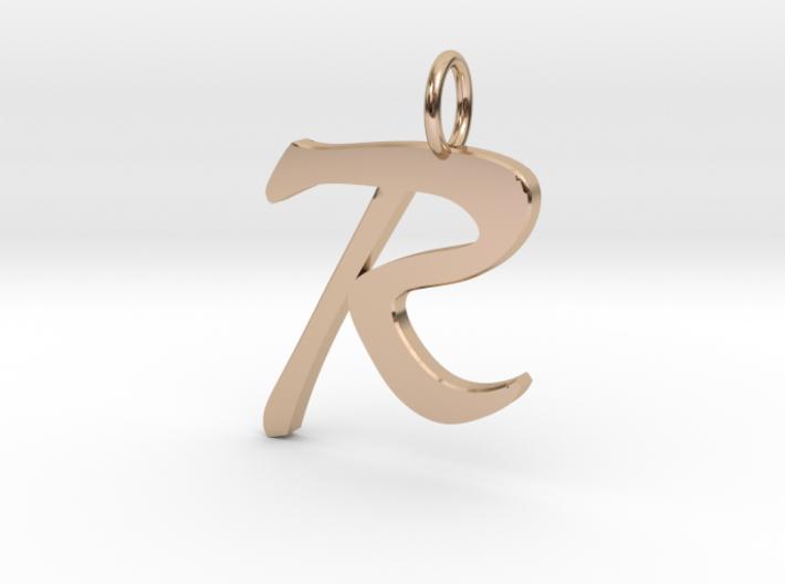RClassic Script Initial Pendant Letter 3d printed