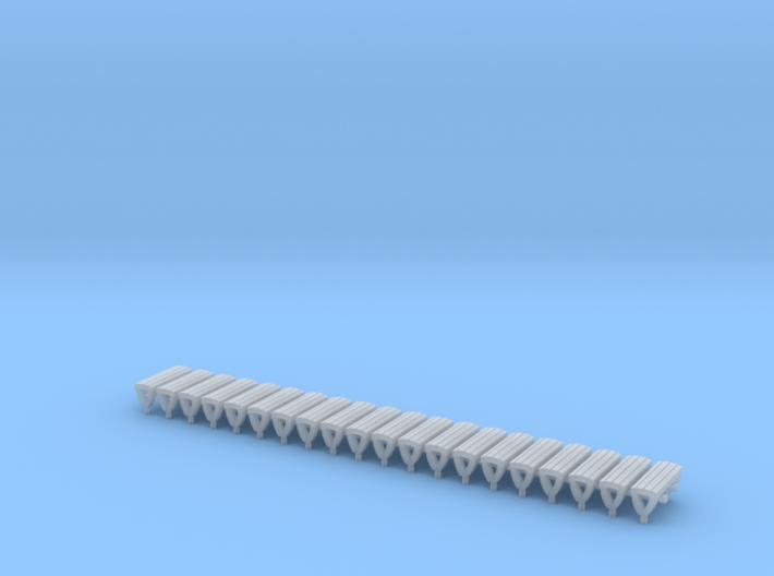 N Gauge Bench Seat Kit Type 1 3d printed