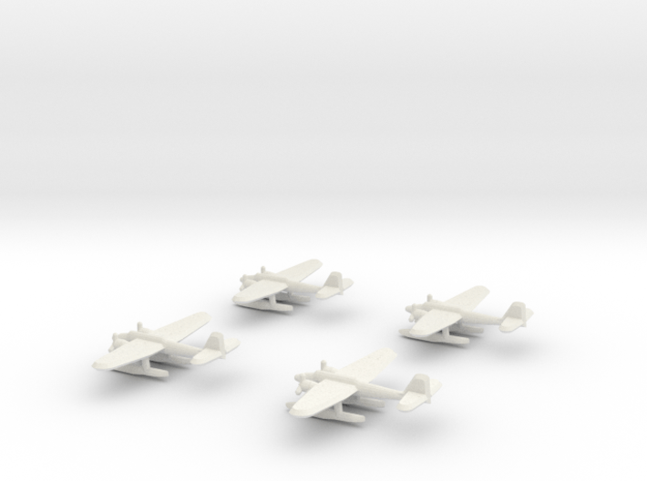 He-115 (1/700) x4 3d printed