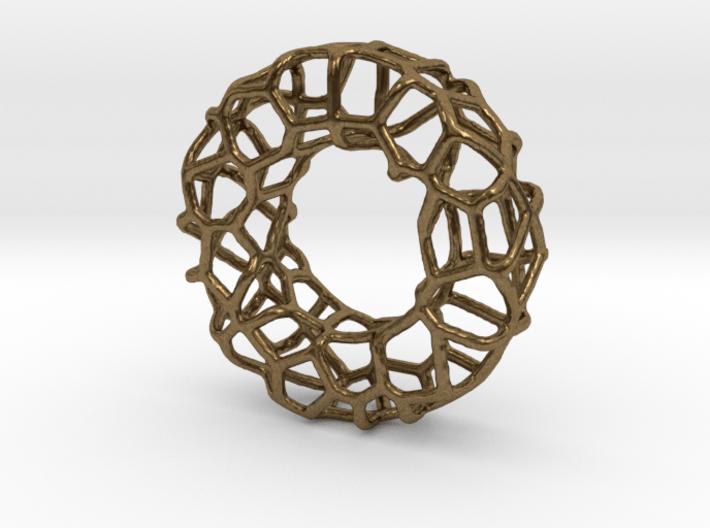 Organic Circle Pendant 2 3d printed