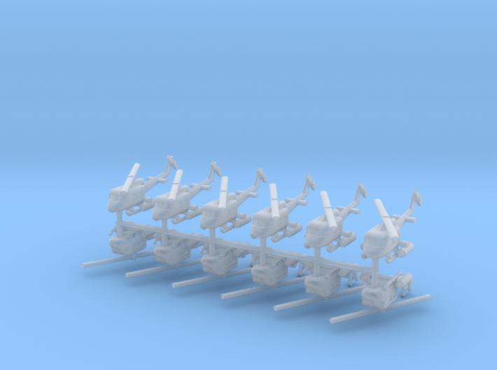 1/600 UH-1 Gunship (x12) 3d printed